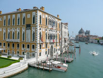 View on the Canal Grande over Palazzo Cavalli-Franchetti in Veni Stock Images