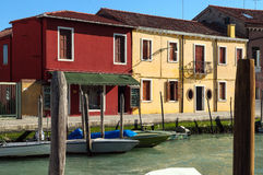 View of canal in Murano island - Venice Italy Royalty Free Stock Photos