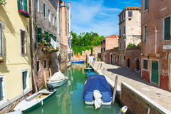 View of canal in Venice, Italy Stock Images