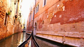View of canal of Venice stock video