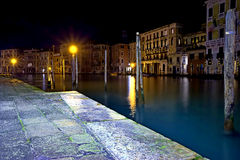 View of canal in Venice night Royalty Free Stock Photos