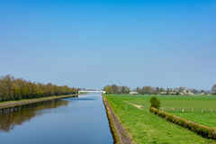 View on the canal and the Wesermarsch Royalty Free Stock Photography