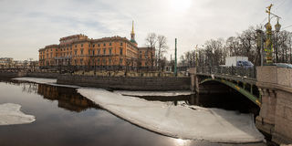 View of canals and banks in North Venice. Spring. Saint-Petersburg. Russia. Stock Photography