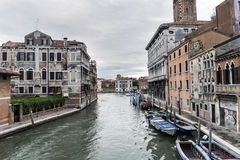 View of the canals from the bridge called `Delle Guglie` Royalty Free Stock Image