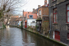 View of the canals of Bruges Stock Image