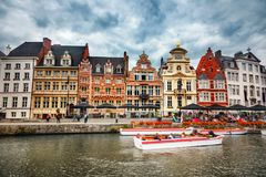 Canals of Gent Royalty Free Stock Photo
