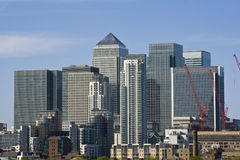 View of Canary Wharf. The financial center of London Stock Photo