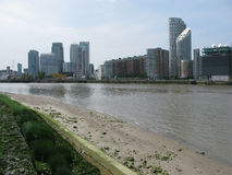 View of Canary Wharf, London, UK Royalty Free Stock Image