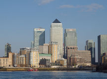 Canary Wharf and River Thames, London Stock Images