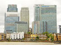 View of Canary Wharf Royalty Free Stock Photography
