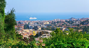 View of Cannes city and Azure Coast Stock Photography