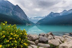 The Canadian Rockies in Banff stock photo