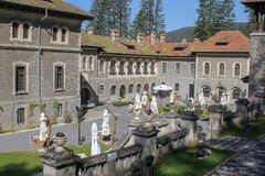 View of of Cantacuzino castle stock image