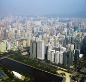 View from Canton tower to Guangzhou city Royalty Free Stock Photos