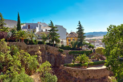 View on canyon and old city of Andalusia Stock Photo