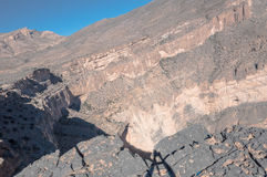 View of Canyon of Oman royalty free stock images