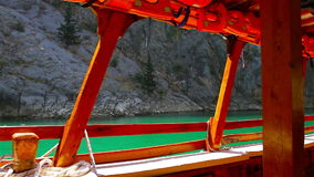 A view into the canyon in the Taurus mountains from boat stock video