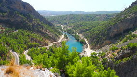 A view into the canyon in the Taurus mountains stock footage
