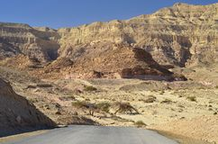 View on canyon of Timna park, Israel Royalty Free Stock Photos