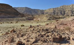 View on canyon of Timna park, Israel Royalty Free Stock Photo
