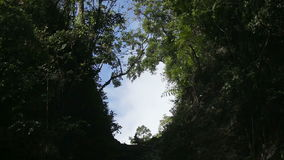 View from the canyon to the sky stock video footage