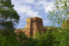 View of canyon tower. Timerlik. Kazakhstan. View of canyon tower Stock Photo