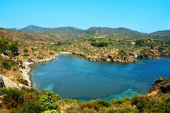 A view of Cap de Creus, Costa Brava, Spain. A view of different coves in Cap de Creus, Costa Brava, Spain royalty free stock image