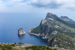 Cap Formentor. View of Cap Formentor in Pollenca, Majorca Balearic Islands, Spain Royalty Free Stock Photo