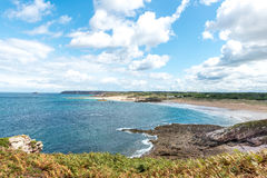 View of Cap Frehel from Pleherel (France) Royalty Free Stock Images