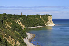 View of Cape Arkona, Ruegen Island. View of Cape Arkona and its old lighthouse, Ruegen Island, Mecklenburg-Western Pomerania, Germany, Europe Stock Images