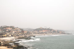View of Cape Coast in Ghana Stock Photos