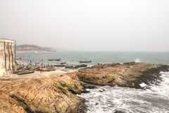 View of Cape Coast in Ghana Stock Photography