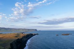 Dyrholaey cape - a tourist attraction in Iceland stock images