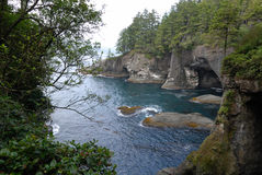 View of Cape Flattery. Cape Flattery at Neah Bay near Olympic National Park Royalty Free Stock Images