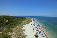 View from the Cape Florida lighthouse Royalty Free Stock Photos