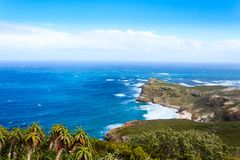 View of Cape of Good Hope South Africa. African landmark. Navigation Royalty Free Stock Images