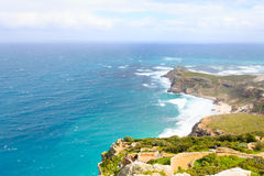 View of Cape of Good Hope South Africa. African landmark. Navigation Stock Photo