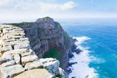 View of Cape of Good Hope South Africa. African landmark. Navigation Royalty Free Stock Photo