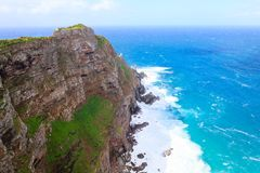 View of Cape of Good Hope South Africa. African landmark. Navigation Royalty Free Stock Photos