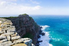 View of Cape of Good Hope South Africa. African landmark. Navigation Stock Photography