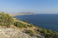 View of the Cape Meganom. Crimea, September. Royalty Free Stock Photo