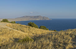 View of the Cape Meganom. Crimea, September. Royalty Free Stock Images