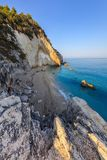 Little beach near Agios Nikitas. Lefkada, Greece. View from Cape Nikita to little beach. Agios Nikitas. Lefkada, Greece Stock Image