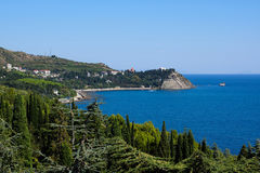View of the cape Plaka. Partenit, Crimea Royalty Free Stock Photo
