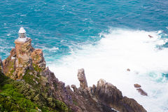 View of Cape Point lighthouse South Africa. African landmark. Navigation indicator Stock Images