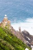 View of Cape Point lighthouse South Africa. African landmark. Navigation indicator Stock Image
