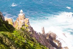 View of Cape Point lighthouse South Africa. African landmark. Navigation indicator Stock Photo
