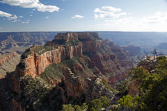 View from Cape Royal to Vishnu Temple in the Grand Canyon National Park Stock Images