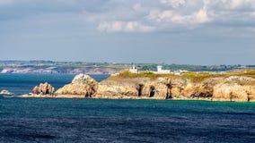 View of Cape Toulinguet, Camaret sur mer, Brittany (Bretagne), F Stock Photo