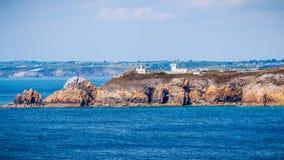 View of Cape Toulinguet, Camaret sur mer, Brittany (Bretagne), F Stock Image